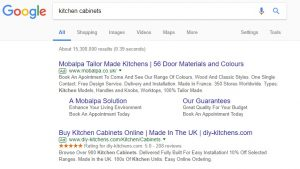 Adwords example for Google search
